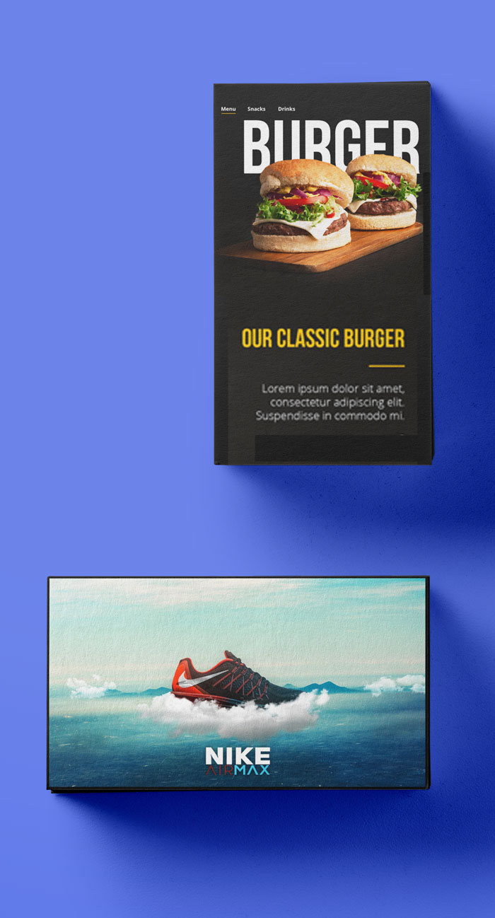 Digital Signage: Menu TV & Advertising